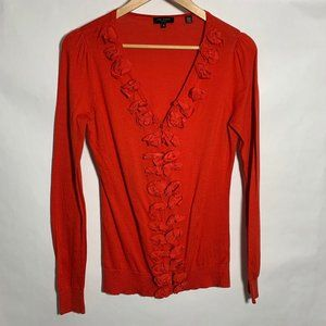 Ted Baker Button Down Cardigan Sweater Red Bow L